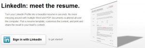 Torne seu perfil do LinkedIn em um currículo