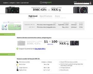 Comparando câmeras digitais online 1