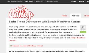 Conteúdo de exemplo para Wordpress