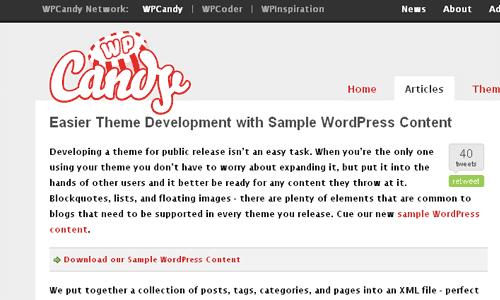 Conteúdo de exemplo para Wordpress 1