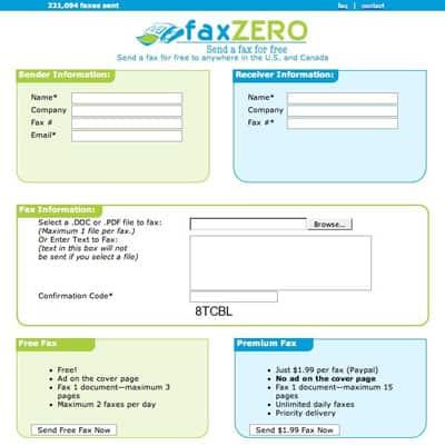 Envie fax de graça pela Internet 1
