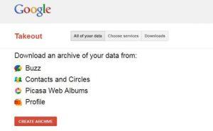 Faça um backup de todos os seus produtos do Google