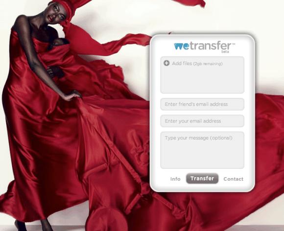 Compartilhe arquivos com estilo no WeTransfer 1