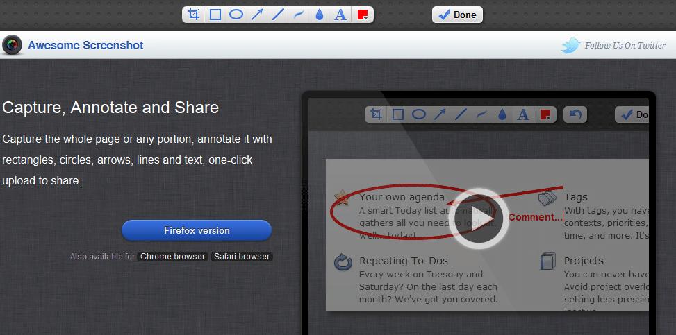 Ferramentas para tirar screenshots (captura de tela) com seu navegador 3