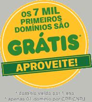 Registre o seu domínio .com.br gratuitamente