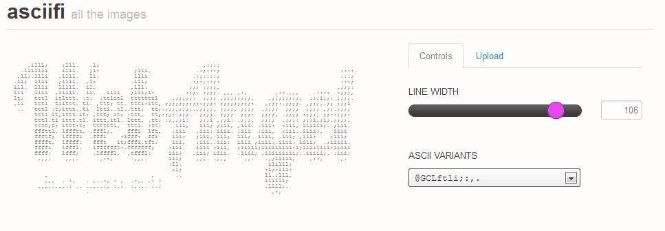 Transforme qualquer imagem em código ASCII 1