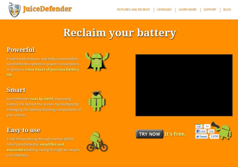 Aumente a duração da bateria do seu Android com o Juice Defender 1