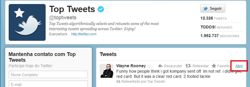 Incorporando tweets a uma página 1