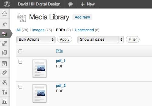 Adicionando suporte a .pdf no Wordpress 1