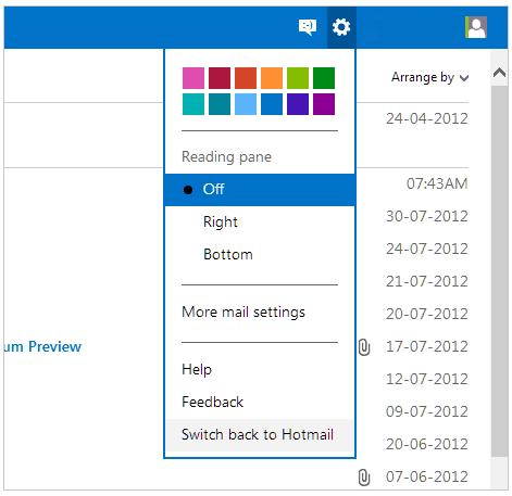 Volte a usar a interface antiga do Hotmail 1