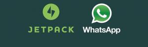 Jetpack com compartilhamento pro WhatsApp