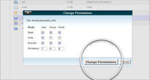 Script para consertar permissões no cPanel