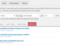 Mostrar visitas do admin do Wordpress (Wordpress Popular Posts)