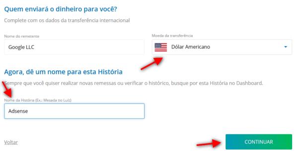 Recebendo pagamento do Adsense pelo Remessa Online 6