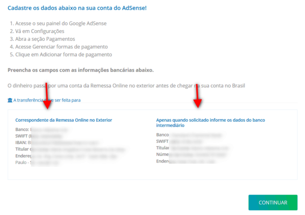 Recebendo pagamento do Adsense pelo Remessa Online 7