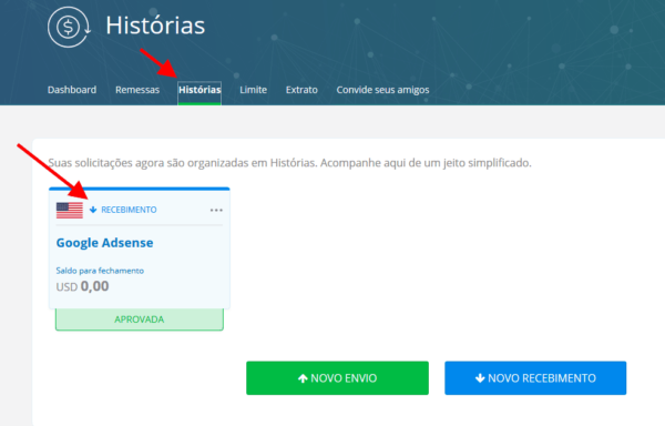 Recebendo pagamento do Adsense pelo Remessa Online 14